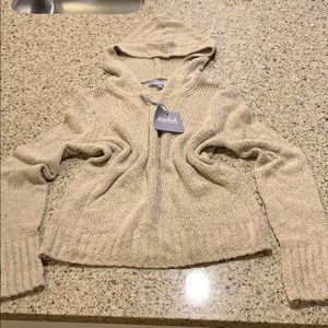 Marled by Reunited Clothing tan hooded sweater